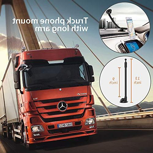 IPOW Truck Holder,Long Arm Car Windshield with Base X XR 8 7 6 S9 S9+ S8 S8+ S6 S5,Google, Nexus, LG, Huawei