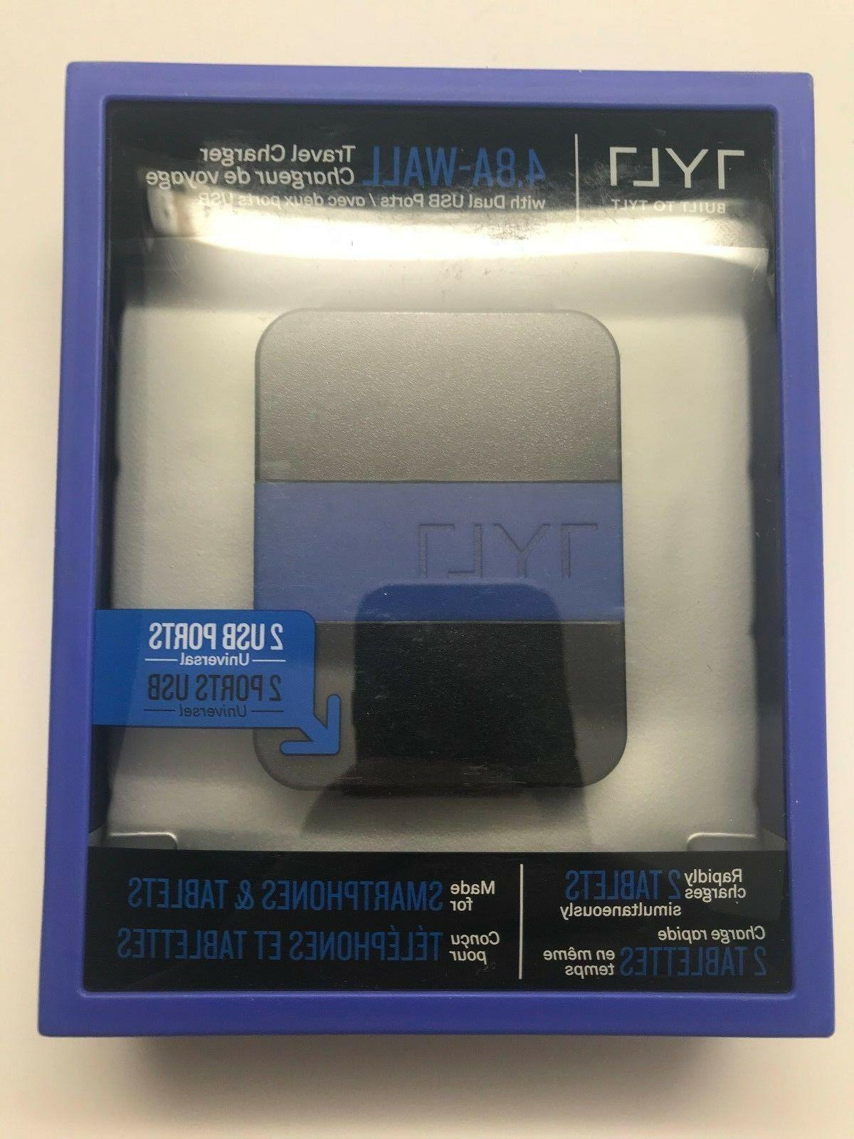 NEW TYLT 4.8A Wall Travel Charger Universal Dual USB Ports s
