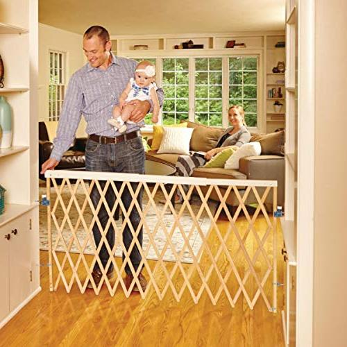 "North States 60"" Wide Expandable Swing Baby Gate: Equipped w"