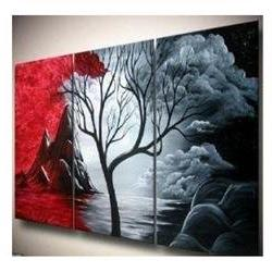 Santin Art - Hand-painted Artwork the Cloud Tree High Q. Wal