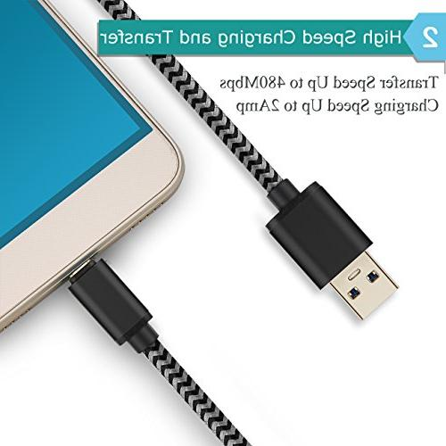 Android Charger, Power-7 USB Cable with Wall Plug Block kit Compatible S7/S6 5/J7, G4 G3, Moto, Tablets