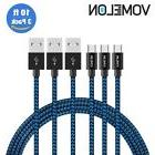3 Pk 10 FT Android Samsung Braided Charging Cord Long Heavy