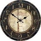 BEST Antique Clock Wall Rustic Vintage Style Wooden Round Cl