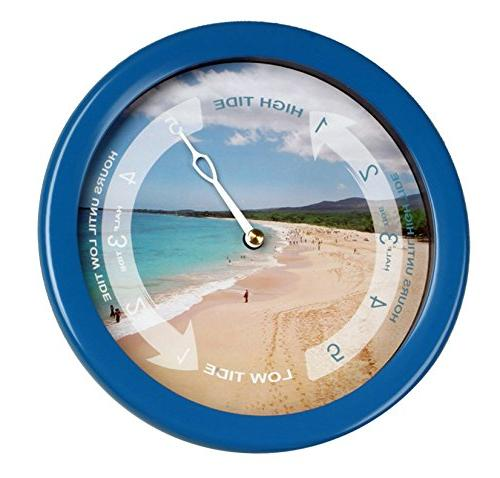 atlantic tide clock colorful graphics
