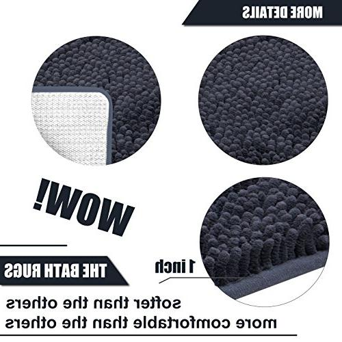 DEARTOWN Mat for Bathroom Rugs,Long Floor Mats,Extra Absorbent, TPR Bottom,Machine-Washable, for Tub, Doormat