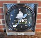 """BENRUS BATTERY OPERATED COFFEE WALL CLOCK 10-3/4"""" NEW"""