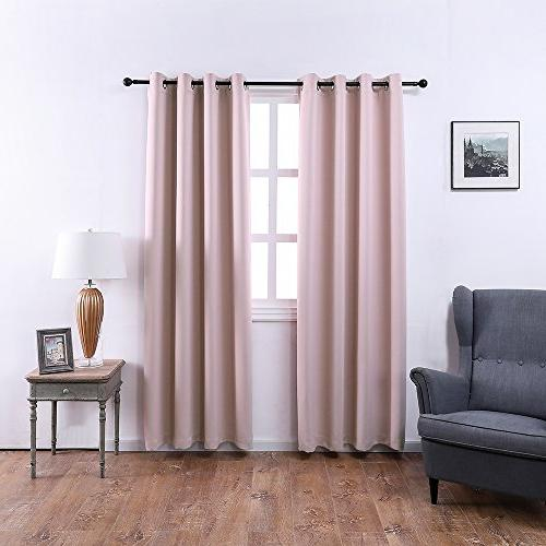 MANGATA CASA Bedroom Curtains Grommets Window Curtain Living