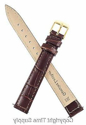 BROWN LEATHER BAND CROCO LONG