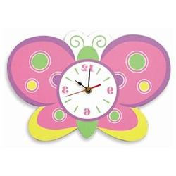 Trend Lab Butterfly Wall Clock - 13 Inches Wide