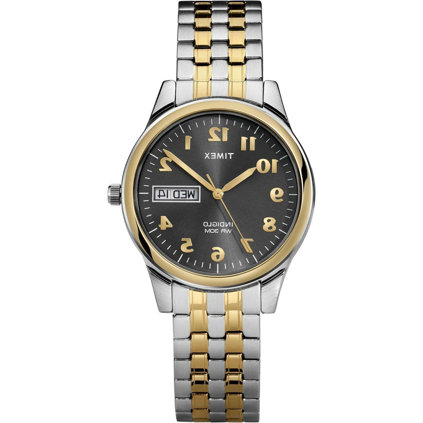 Timex Charles Street Men's Watch Two-Tone Stainless Steel w/