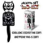"CLASSIC BLACK KIT CAT CLOCK 15.5"" MADE IN USA Official Klock"