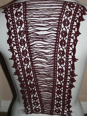 clearance 1 extra long burgundy maroon wine
