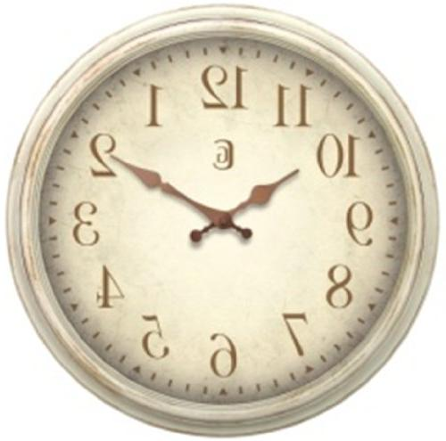 clock antique white plastic wall