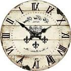 "10"" Clock Decor Vintage Rustic Shabby Chic Style Wooden Roun"
