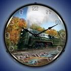 CNW E-4 HUDSON TRAIN RAILROAD LIGHTED WALL CLOCK RETRO GAME