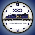 CSX TRAIN RAILROAD HOW TOMORROW MOVES LIGHTED WALL CLOCK GAM