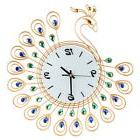 NEW Fashion Large Diamond Peacock Wall Clock Home Office Dec