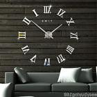 DIY Extra Large Wall Clock Modern 3D Mirror Surface Sticker