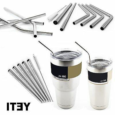 Drinking Straws Stainless Steel Cleaning Brush Reusable for