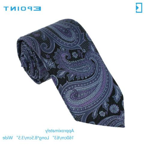 EAGB0139 Paisley Microfiber Long Tie Epoint