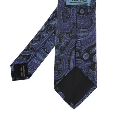 EAGB0139 Black Paisley Shopstyle Extra Long Tie Epoint