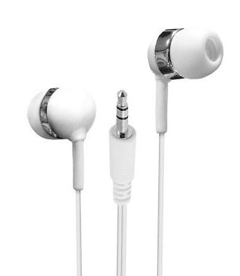 Earbuds Lot Set of 25 Bulk White/Grey Extra Long Wire In-Ear