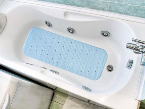 EXTRA LARGE RUBBER CUSHIONED NON SLIP SHOWER MAT