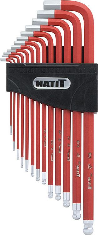 Titan  13 Piece Extra Long Arm Ball End Hex Key Set SAE