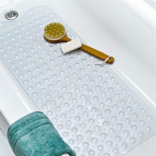 "Non Slip Bath Tub Mat 39""x15"" Anti Slip Extra Long Large Sho"