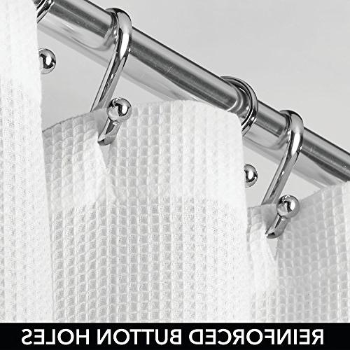 "mDesign 100% Cotton Waffle Weave Quality Bathroom Showers Soft, 72"" x - White"