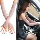 New Fashion Womens Extra Long Lace Cuffs Fingerless Gloves S