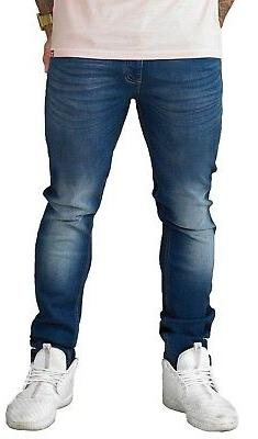 D555 Extra Long Leg Tall Stretch Denim Tapered Fit Straight