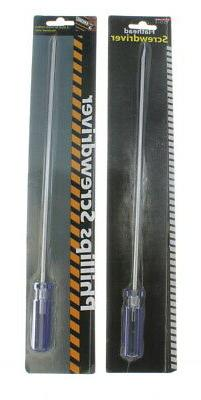 Extra Long Phillips and Flathead Screwdriver Set Hardware Ho
