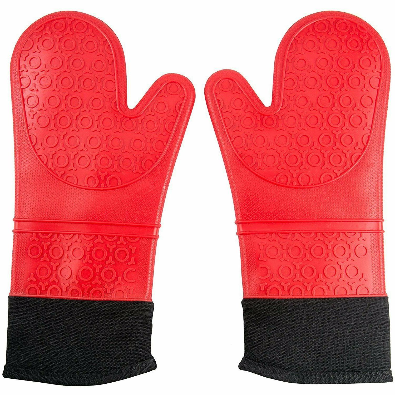 extra long professional silicone oven mitts 1