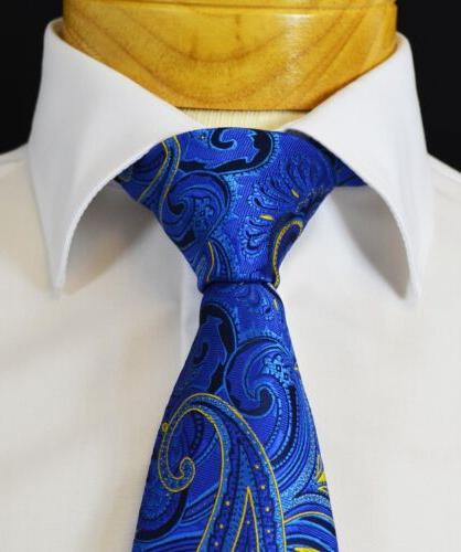 extra long royal blue and yellow paisley