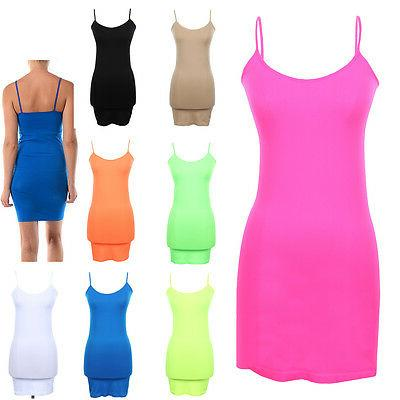 extra long seamless tunic dress slip camisole