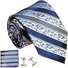 Extra Long Paul Malone Silk Tie and Accessories . Blue
