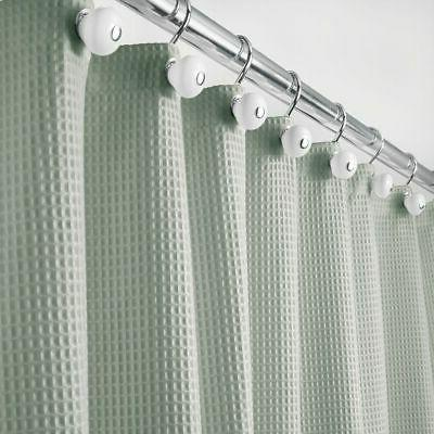 extra long waffle weave fabric shower curtain