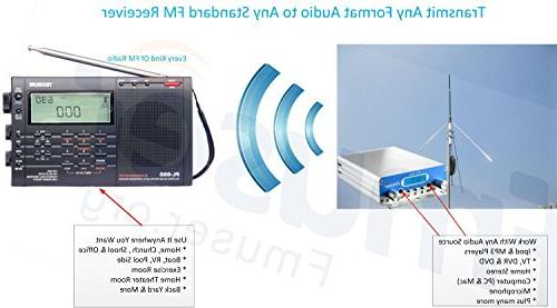 FMUSER FU-15A 1W/15W FM Transmitter, Two Power Short or Long Broadcasting + 1/4 wave Ground Antenna AC Power Supply, Holiday Light KIT