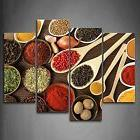 Framed Colorful Spice In Spoon Food Canvas Art Prints Pictur