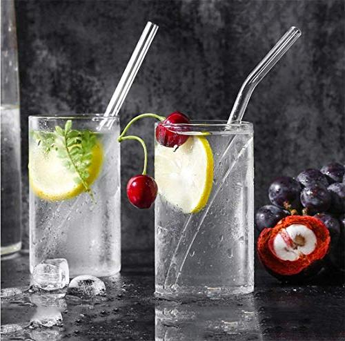 Glass Smoothie x 10 Reusable Drinking Straws for of Cleaning