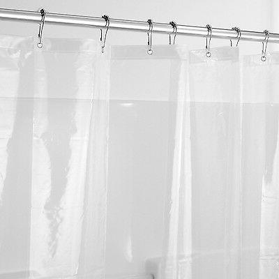 SHOWER CURTAIN LINER CLEAR VINYL 72 X 84 BATHROOM BATHTUB TU