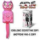 "HONEYSUCKLE PINK LADY KIT CAT CLOCK 15.5"" Free Battery LIMIT"