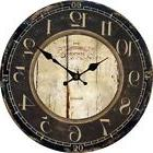 IMAX Large Wall Clock Oversized Silent Numeral Rustic Paris