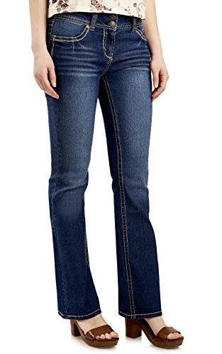 juniors luscious curvy basic bootcut jeans in
