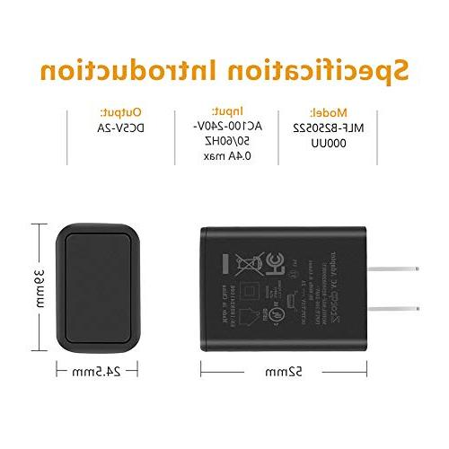 """Kindle Fire Ztotop AC Rapid Charger with Ft Micro-USB Cable for Kindle 6"""" 7"""" Fire 7 8 Tablet Power Supply"""