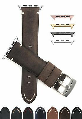 leather watch band for apple watch series