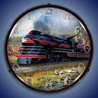 LEHIGH VALLEY K5B TRAIN RAILROAD LIGHTED WALL CLOCK RETRO GA