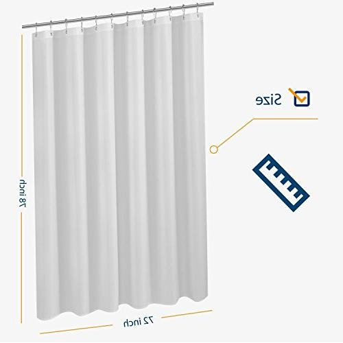 N&Y HOME Curtain Liner 72 Longer Hotel Quality, Mildew Washable, Water Repellent, Curtains with Grommets