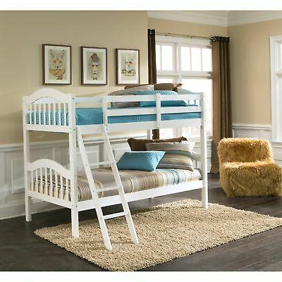 longhorn hardwood twin bunk bed with ladder